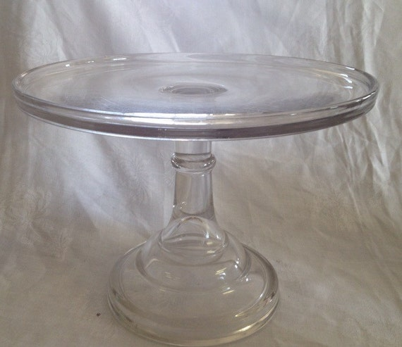 tall wedding cake stand vintage clear glass cake plate by 20744