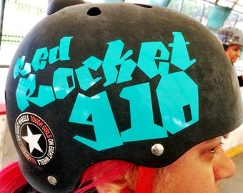 Custom Single Layer Roller Derby Helmet Decal