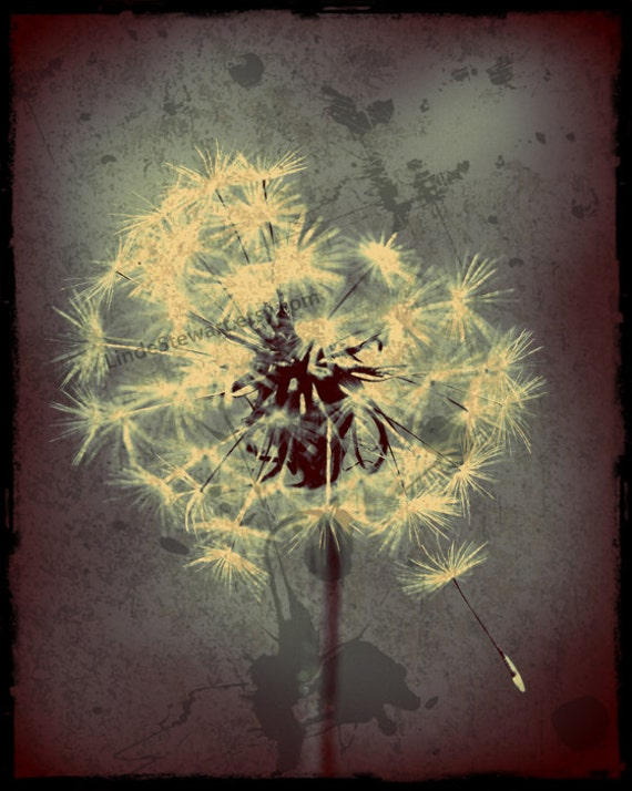 Dandelion Metal Wall Decor : Items similar to dandelion gun metal blue wall