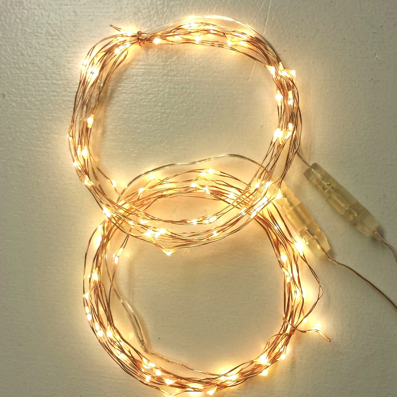 String lights for bedroom decor. 200 Fairy Lights on copper