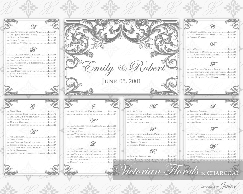 DIY Printable Wedding Seating Chart Template Printable : y chart template : Sample Chart Templates