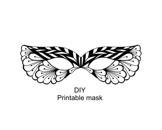 It's just a picture of Striking Mask Template for Adults