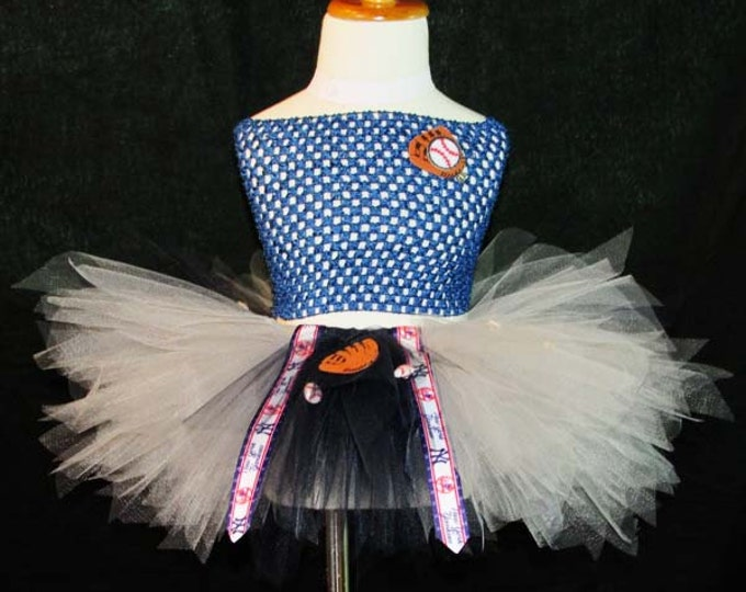MLB New York Yankees Themed Tutu Skirt