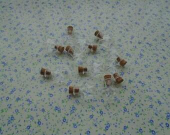 50pcs 23*20*10mm pentagram shape clear glass bottle with cork , BB2015