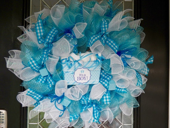 Gift for baby new baby welcoming wreath hospital door for Baby boy hospital door decoration