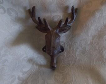 Cast Iron Deer Head Hook (1124)