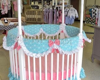 SALE! Round Crib Bedding