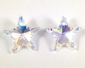 6714 CRYSTAL AB 20mm Swarovski Crystal Star Pendant, 2pieces or 6pieces
