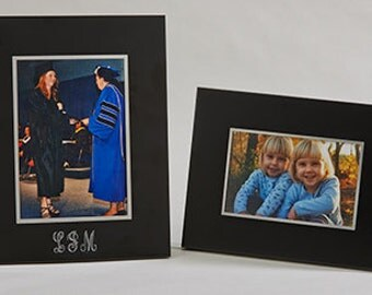 Engraved  Picture, Photo Frame, Noir, Black  4 x