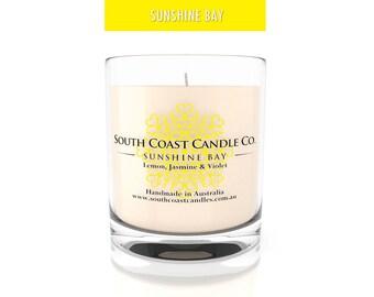 Lemon Jasmine Violet Scented Soy Wax Candle Jar