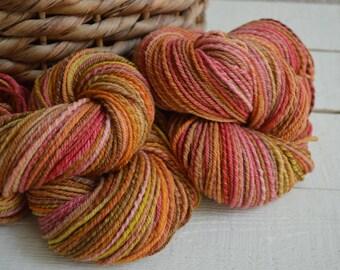 Embers Hand Spun Merino Wool DK/ Worsted Weight Navajo Ply Yarn