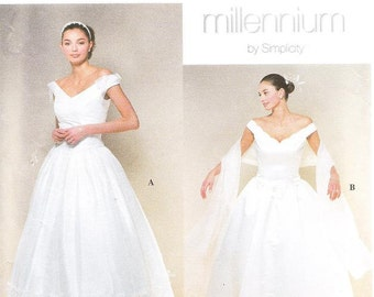 Simplicity 8834 Misses' Wedding Gown Sewing Pattern, 4-10