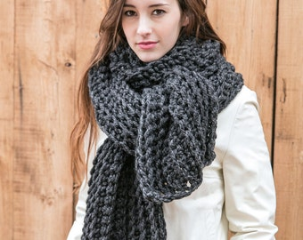 Blanket Scarf in 20 Colors // Chunky Knit Scarves // Holiday Gifts // Extra Large Wool Scarf // THE AMELIE in 20 color options