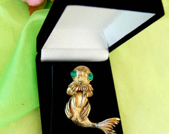 Vintage Monet Walrus Pin Brooch