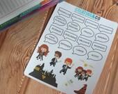 CA08 24 Wizard and Spell Stickers for Erin Condren Life Planner, Limelife Planner, Kikki K, Plum Paper Planner