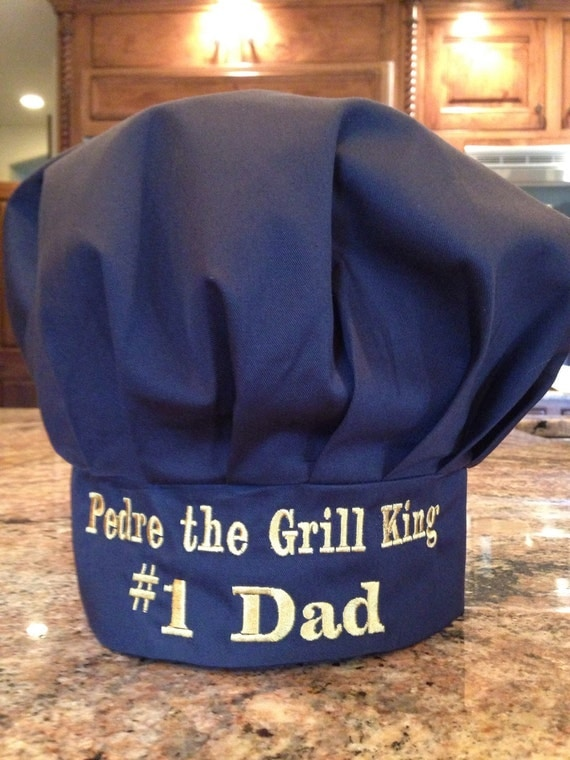 Personalized Chef S Hat In Black By Extratouchgifts On Etsy