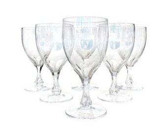 Orrefors Coronation Wine Glasses, Set of Six, Collectible Stemware