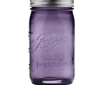 Ball Heritage Mason Jar - Canning Jar, Tumbler, Crafts, Sold Individually, Collectible, Vintage Inspired, Purple, Blue, Green, Turquoise,