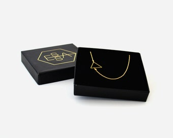 14k Gold plated triangle necklace