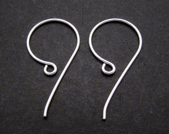 4 Pcs, Sterling Silver Ear Wires