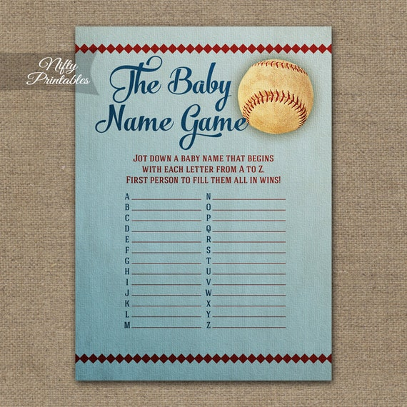 baby name game baseball baby shower game baseball baby name game