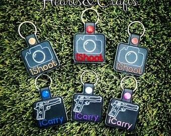 iCarry keyfob. Keyring. Bag Tag. Conceal Carry