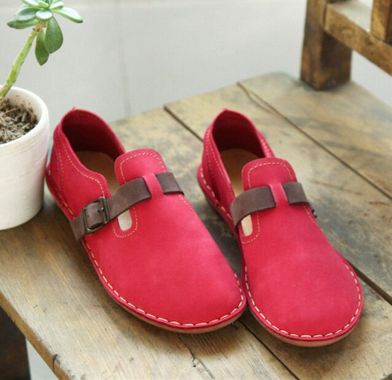 SALE Handmade Women's Leather Shoes Flat Shoes Leather