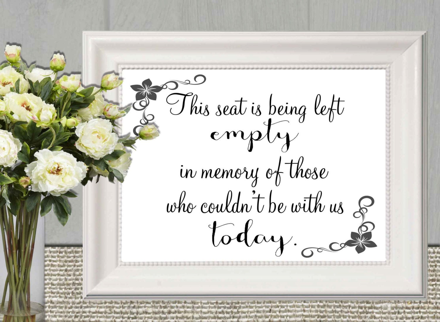 memorial sign print remembrance printable this seat is being