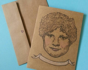 Ed Sheeran/ Multiply/ Sing/ Illustrated/ Custom Message/ Greeting Card