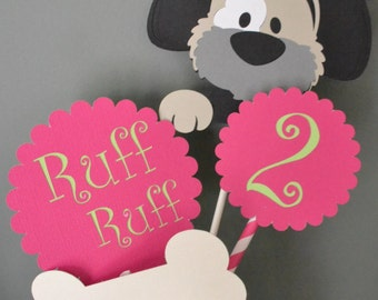 Dog Birthday Party Centerpiece, Puppy Party Centerpiece