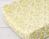 15% OFF SALE- Gold Damask Changing Pad Cover | Peggys Pink and Gold Collection