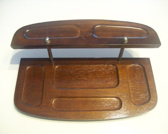 Vintage Mad Men style Gentlemen's valet / vanity tray / caddy