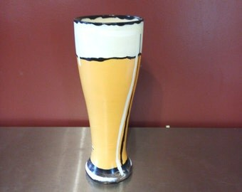 Comic book style Pilsner glass