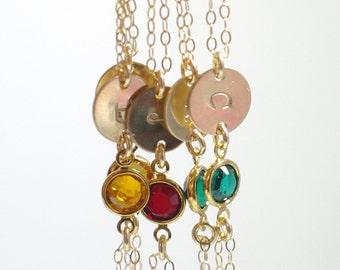 Bridesmaid bracelet 3 4 5 6 Bridesmaid jewelry set Birthstone bracelet Personalized bracelet Dainty bracelet Personalized wedding jewelry