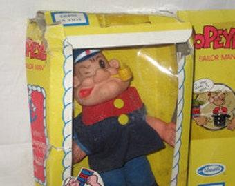 vintage 1979 uneeda popeye the sailor man doll