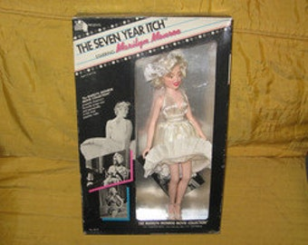 vintage 1982  tristar  the seven year itch  marilyn monroe doll