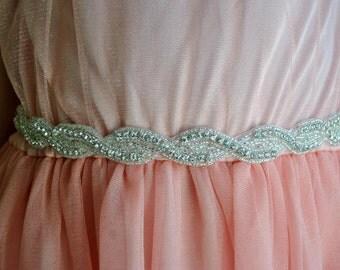 Flower girl Rhinestone Sash, Wedding dress Bridal Sash, Flower Girl baby Wedding Rhinestone Bridal Bridesmaid Sash Belt, Wedding dress sash