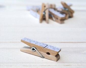 Wooden clothespins  - 3,5 x 0,6 cm 10pcs