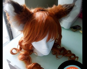 Round Fox Ears --Fox Ears, Furry, Red panda ears, Wearable ears, Head band  ears, Fox Cosplay, Fox Costume, clip on ears gift christmas