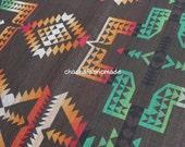 Cotton Tribal Fabric Ethnic Fabric Aztec Fabric Native Fabric BOHO Bohemian Style Tablecloth Fabric  Blanket Fabric Kilim Fabric- Half Yard