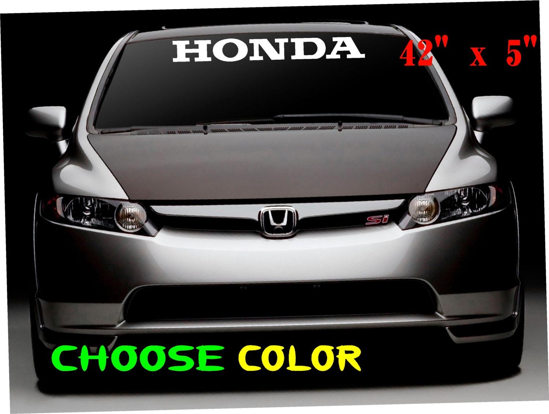 Honda car sticker design -  Sticker Race Honda Window Banner Zoom
