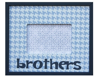 brothers frame brothers decor gift for brother picture frame frame for kids kids frame boy frame navy boy room kids decor frame