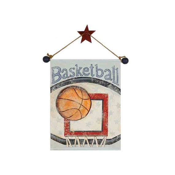 Items similar to basketball artwork hand painted canvas for Vintage basketball wall art