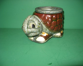 Cute turtle African violet pot...small size...ceramic...free shipping