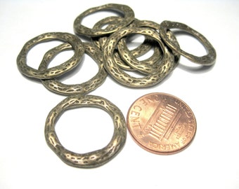 10pcs Antique Bronze 22mm Connector Rings Jewelry Supplies
