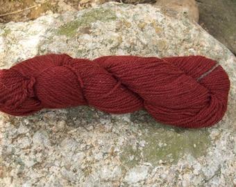 Dark Rust- DK weight- Border Leicester yarn - 100% wool