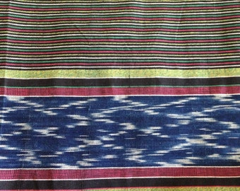 Bold Striped and Ikat Fabric by the Yard from Guatemala