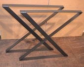 Industrial Steel Table Legs - Any Size & Color!