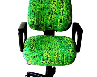 Seat X - The Office Chair Cover, One size fit all, blue and green snake limited edition.Slipcover