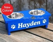 Personalized Raised Dog Bowl Stand